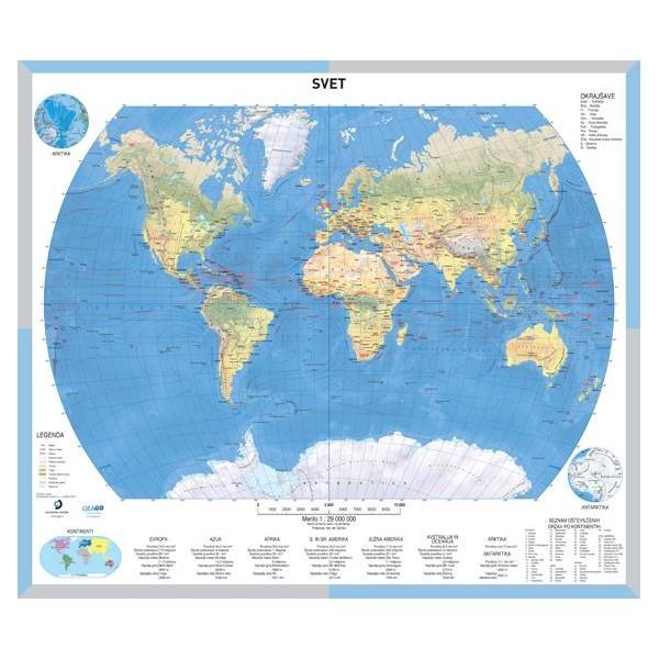 Solska Karta Svet Stenski Zemljevid Sveta 1 29000000